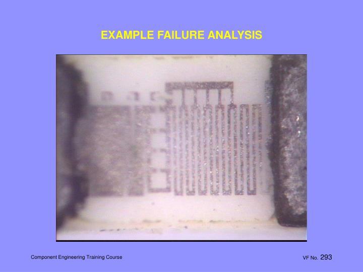 EXAMPLE FAILURE ANALYSIS