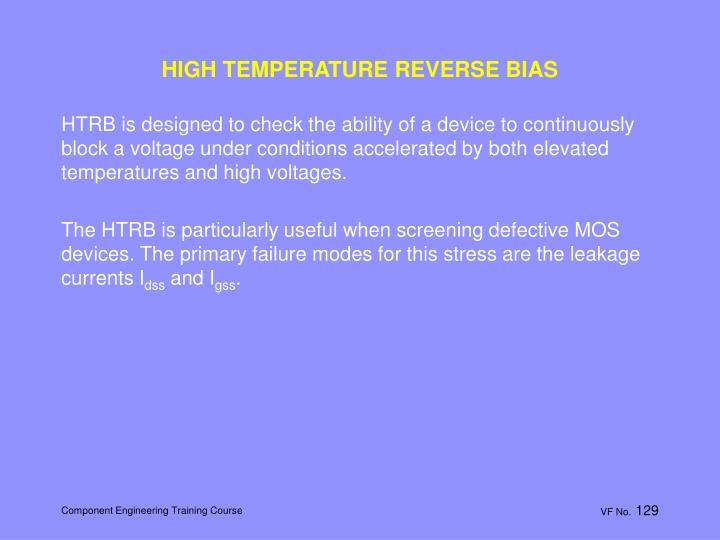 HIGH TEMPERATURE REVERSE BIAS