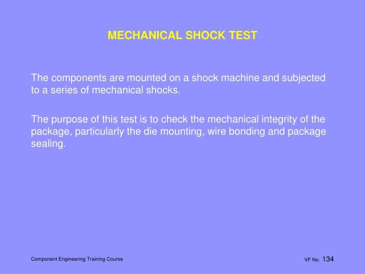 MECHANICAL SHOCK TEST