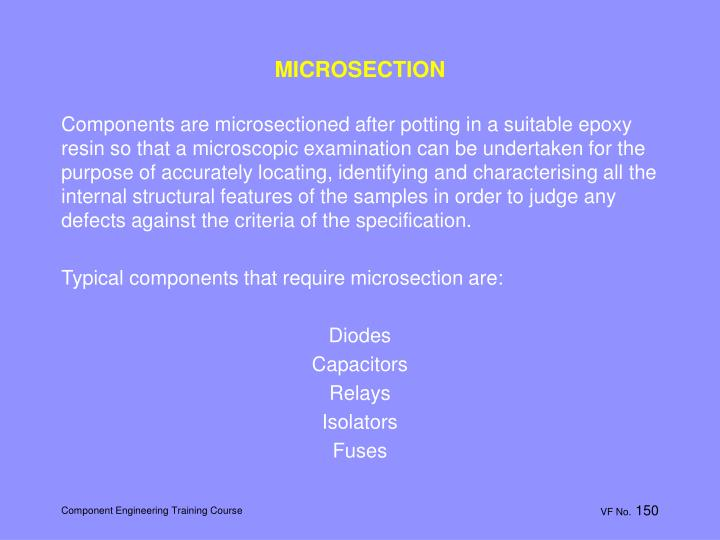 MICROSECTION