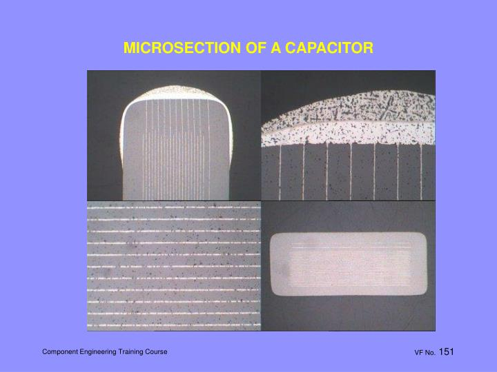 MICROSECTION OF A CAPACITOR
