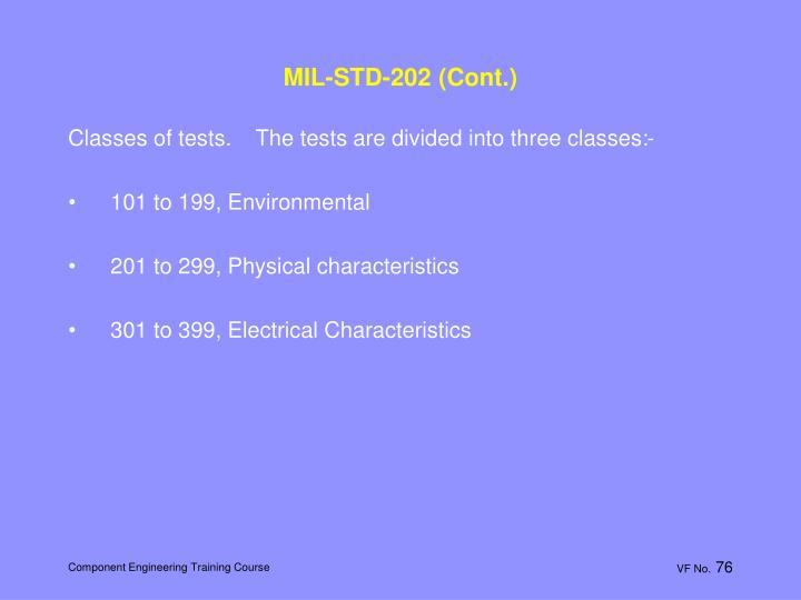 MIL-STD-202 (Cont.)
