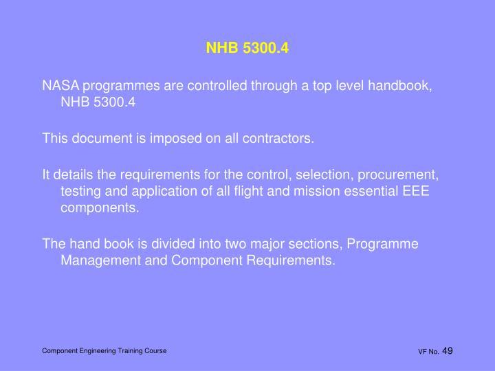 NHB 5300.4