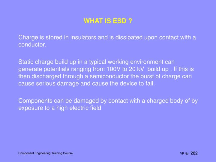 WHAT IS ESD ?