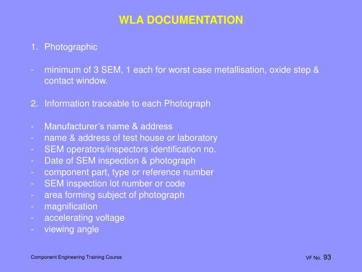 WLA DOCUMENTATION