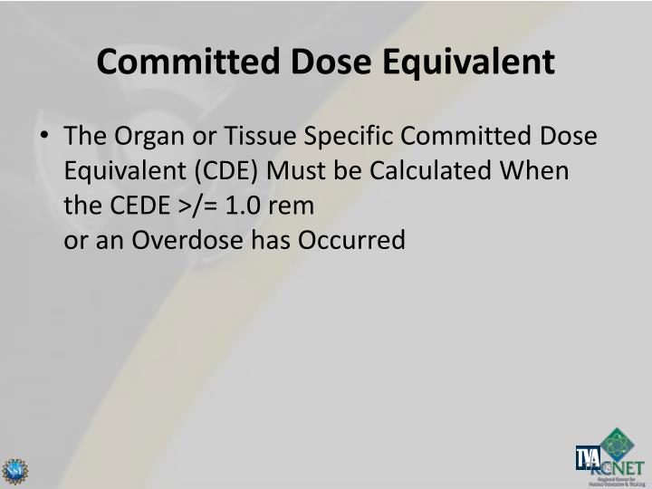 Committed Dose Equivalent