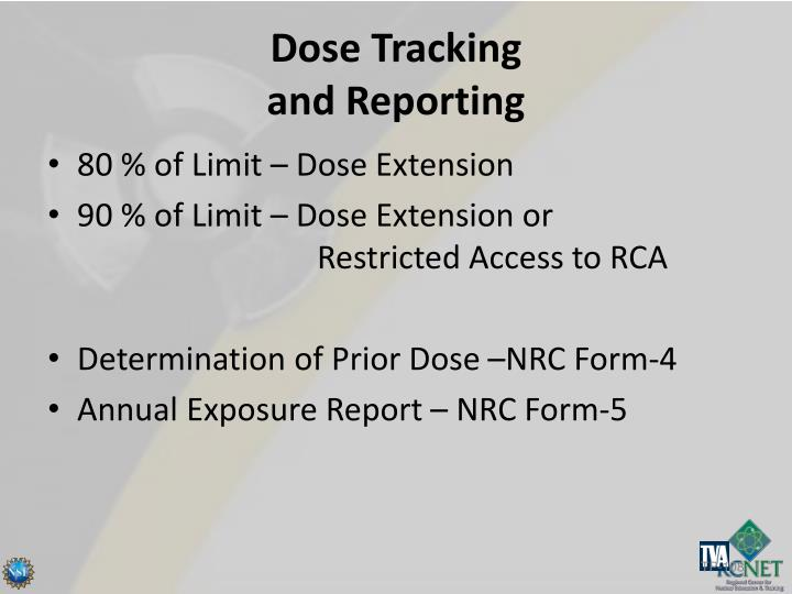 Dose Tracking