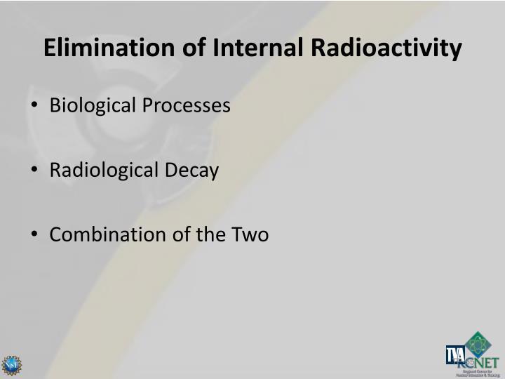 Elimination of Internal Radioactivity
