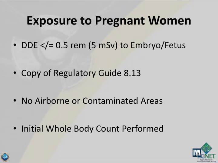 Exposure to Pregnant Women