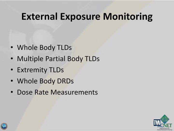 External Exposure Monitoring