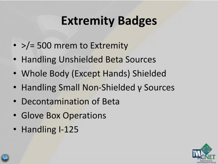 Extremity Badges