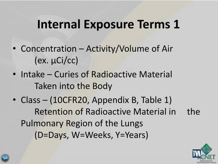 Internal Exposure Terms 1