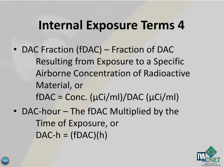 Internal Exposure Terms 4