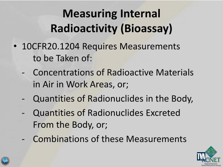 Measuring Internal