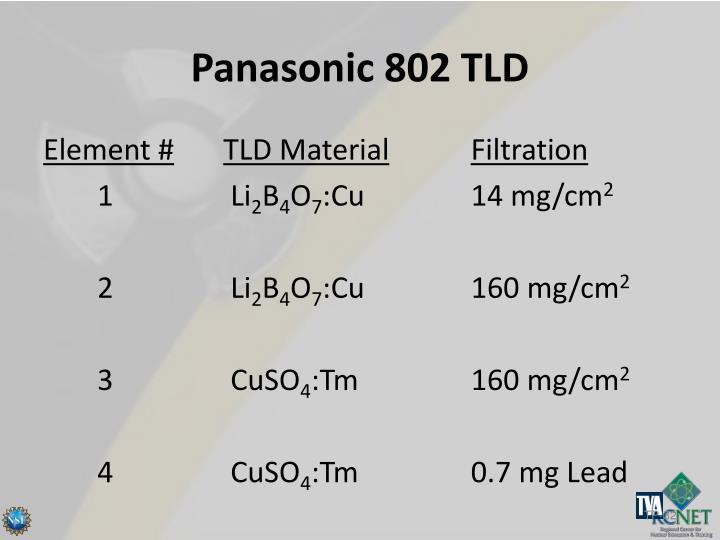 Panasonic 802 TLD