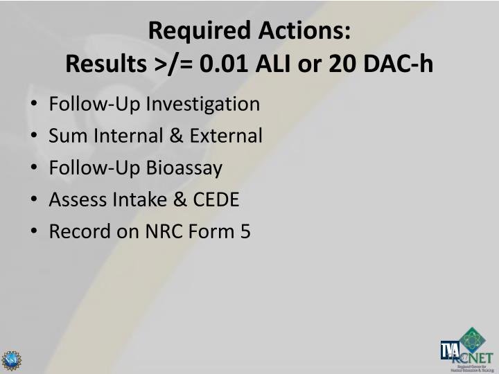 Required Actions: