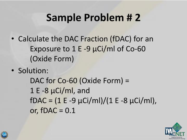 Sample Problem # 2