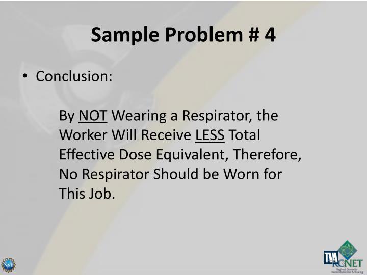 Sample Problem # 4