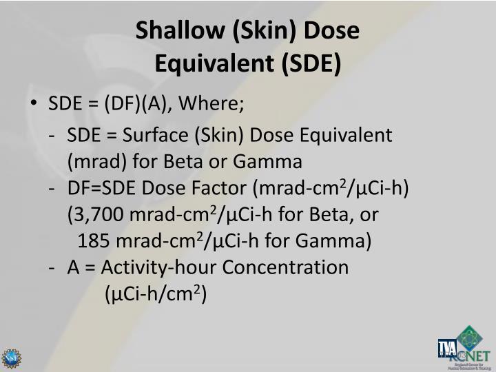 Shallow (Skin) Dose