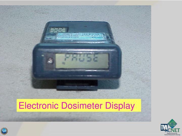 Electronic Dosimeter Display