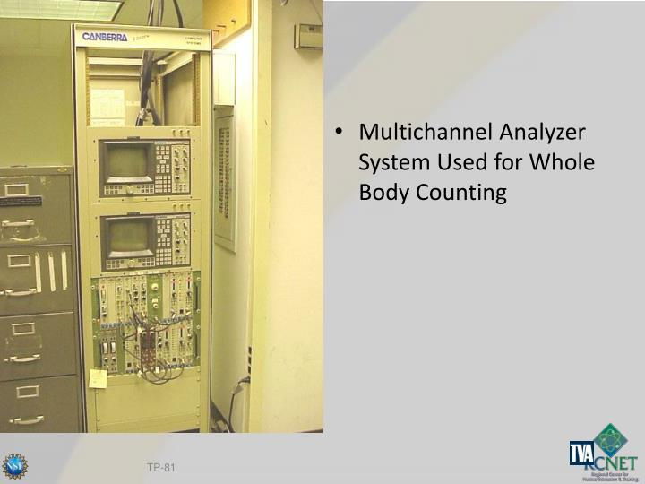 Multichannel Analyzer System Used for Whole Body Counting