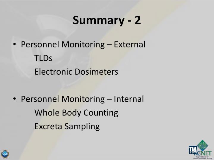 Summary - 2