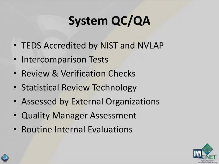 System QC/QA