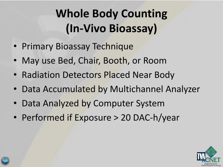 Whole Body Counting