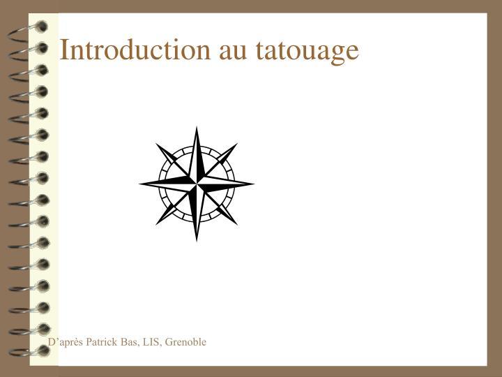 introduction au tatouage n.