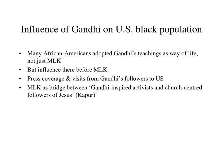 Influence of Gandhi on U.S. black population