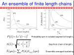 an ensemble of finite length chains