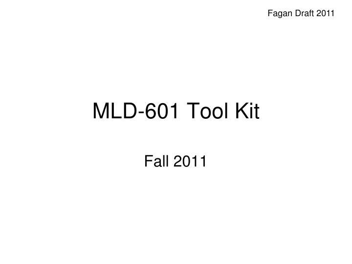 Mld 601 tool kit