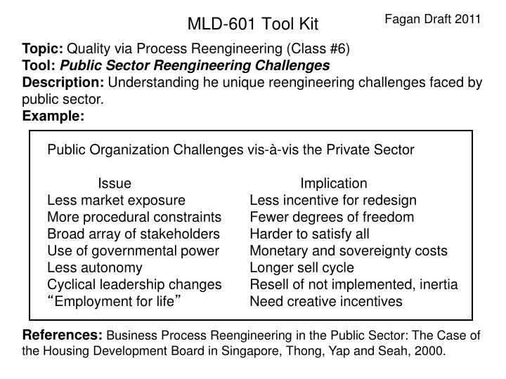Public Organization Challenges vis-à-vis the Private Sector