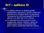 ect aplikace iv