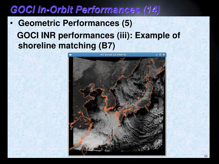 GOCI In-Orbit Performances (14)
