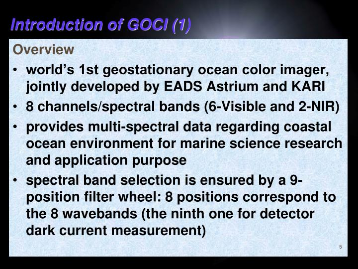 Introduction of GOCI (1)