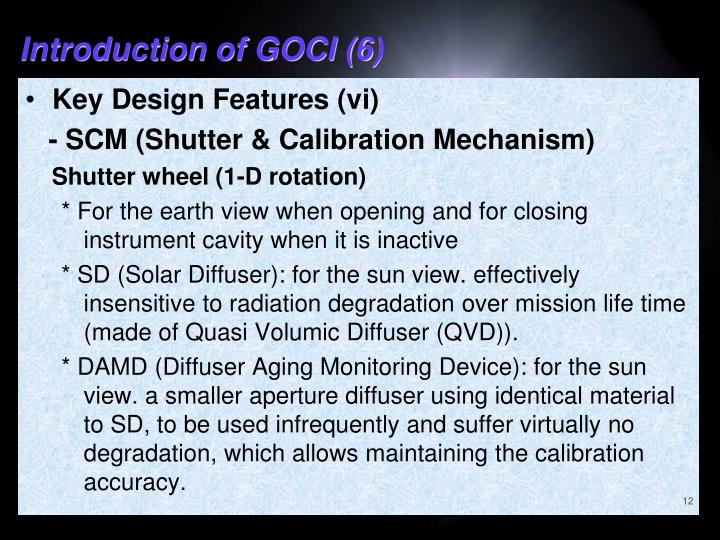Introduction of GOCI (6)