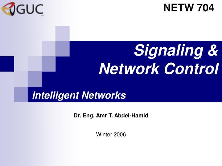 signaling network control n.