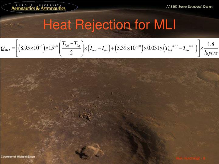Heat Rejection for MLI