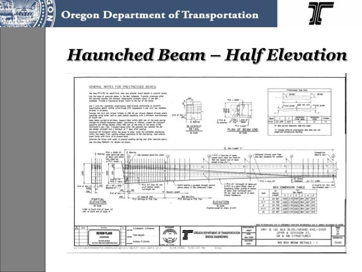 Haunched Beam – Half Elevation