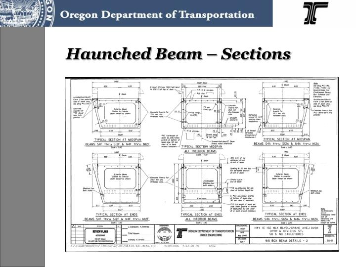Haunched Beam – Sections