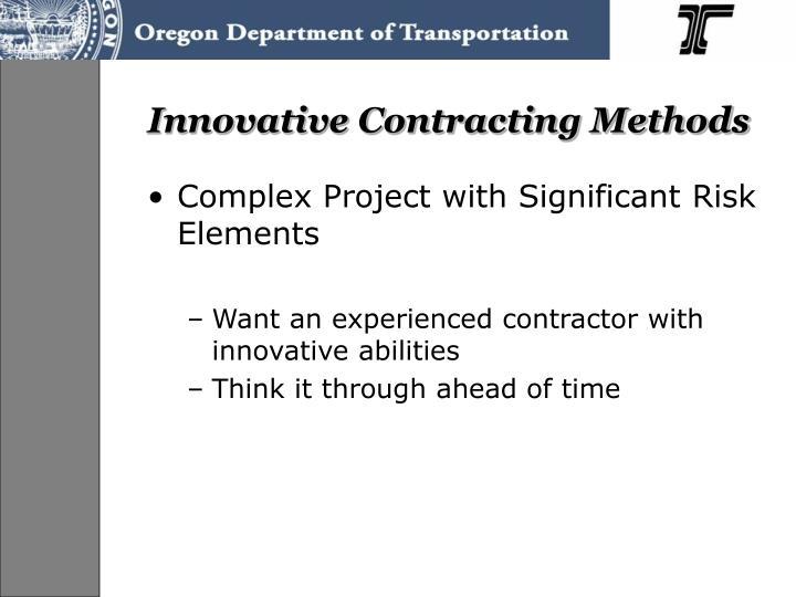 Innovative Contracting Methods