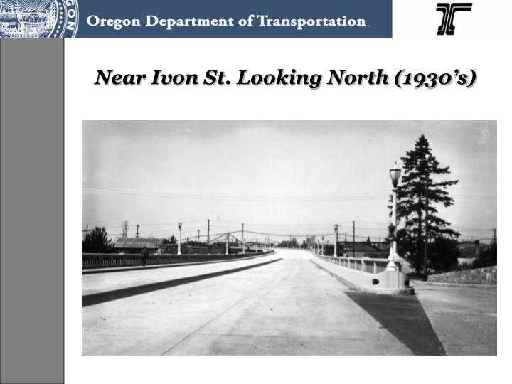 Near Ivon St. Looking North (1930's)