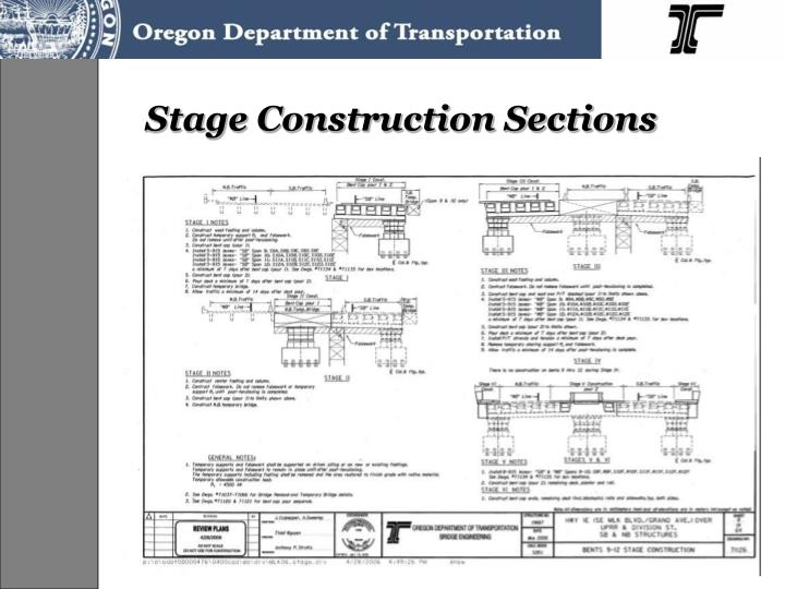 Stage Construction Sections