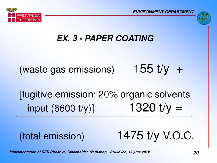 EX. 3 - PAPER COATING