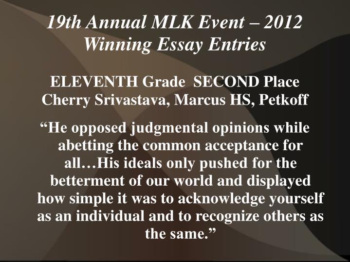 ELEVENTH Grade  SECOND Place