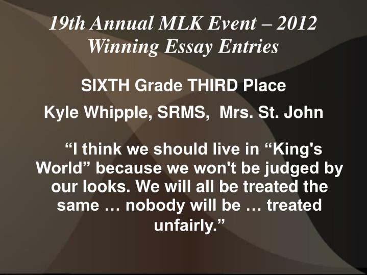 SIXTH Grade THIRD Place