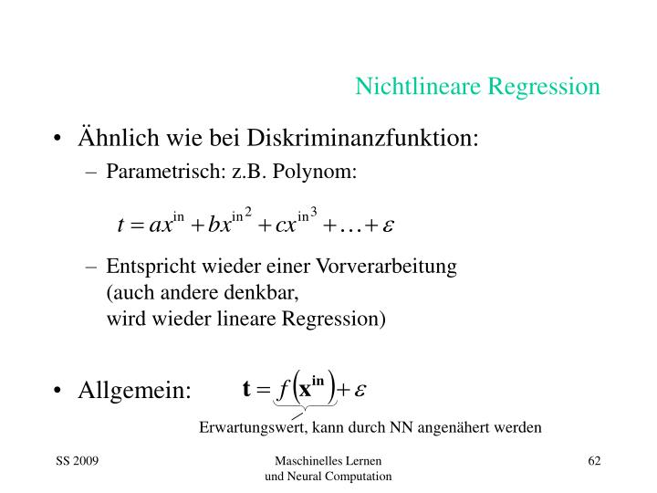 Nichtlineare Regression