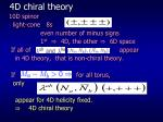 4d chiral theory