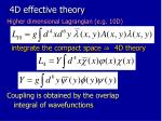 4d effective theory